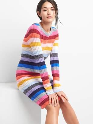 Gap Crazy stripe wool blend dress