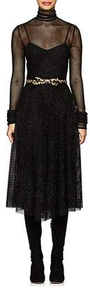 Philosophy di Lorenzo Serafini Women's Metallic Mesh Midi-Dress - Black
