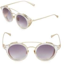 Mile High Crystal 47MM Round Sunglasses