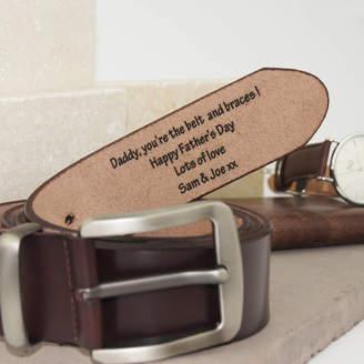 Suzy Q Designs Personalised Men's Leather Belt