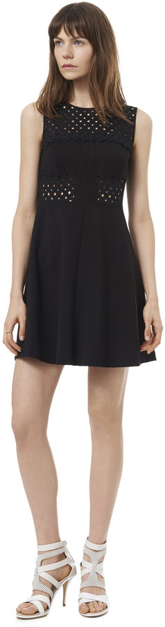 Rebecca Taylor Sleeveless A-line Eyelet Dress