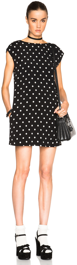Saint Laurent Saint Laurent Polka Dot Shift Dress