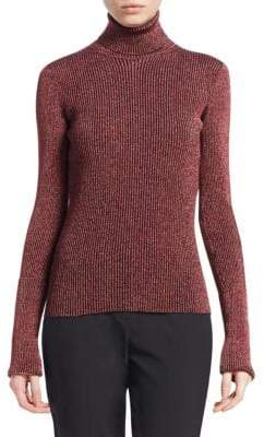 Roberto Cavalli Lurex Ribbed Turtleneck Sweater