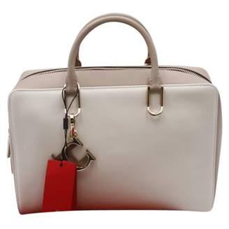 Carolina Herrera Beige Leather Handbag