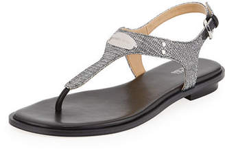 MICHAEL Michael Kors MK Plate Metallic Thong Sandals