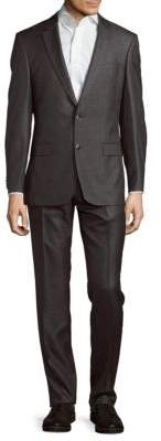 Hugo Boss Textured Wool & Silk-Blend Suit