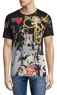 Eleven Paris Stensal Cotton Graffiti T-Shirt