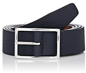 Barneys New York Men's Reversible Leather Belt - Navy