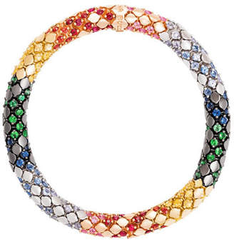 Carolina Bucci Twister Luxe 18k Gold Medium Rainbow Bracelet