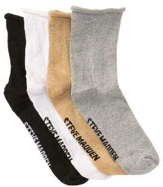 Steve Madden Lurex Anklet Socks - Pack of 4