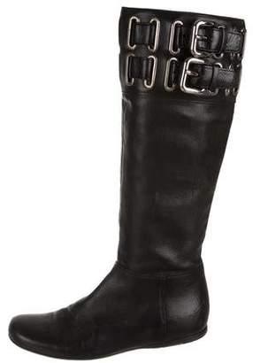 Miu Miu Knee-High Leather Boots