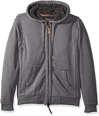 True Grit Men's Slub Cotton Zip Hood Jacket with Soft Plush Interior