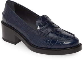 Tod's Croc-Embossed Loafer Pump