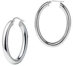 Lord & Taylor Sterling Silver Tubular Hoop Earrings