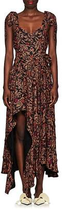 Proenza Schouler Women's Paisley Georgette Asymmetric Dress