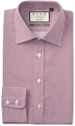 Thomas Pink Cane Print Slim Fit Dress Shirt