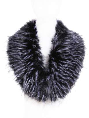 soul young Faux Fur Collar for Women,Ladies Winter Scarf Neck Warmer Wrap(Burgendy)