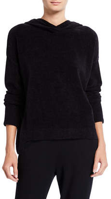 Eileen Fisher Organic Cotton Chenille Hooded Sweater