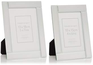 Debenhams Home Collection - Set Of Two 'Charlotte' Glass Photo Frames