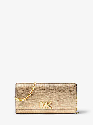 Michael Kors Mott Metallic Leather Chain Wallet