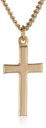 Bob Siemon Plated Plain Cross Pendant Necklace