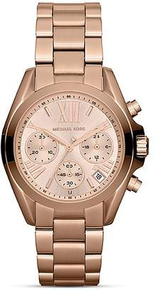 Michael Kors Mini Bradshaw Chronograph Watch in Rose Gold, 35mm