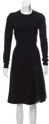 Stella McCartney Long Sleeve Midi Dress