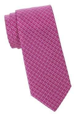 Salvatore Ferragamo Linked Gancini Heart Silk Tie
