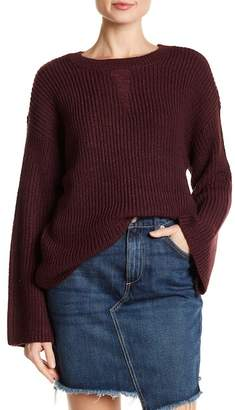 Romeo & Juliet Couture Crew Neck Flare Sleeve Sweater