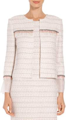 St. John Textural Striped Knit Jacket
