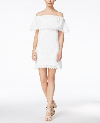 kensie Eyelet Off-The-Shoulder Dress $89 thestylecure.com
