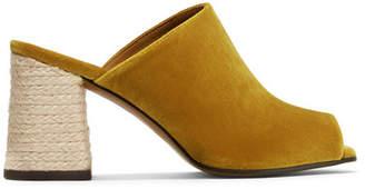 Castaner Faram Velvet Mules - Mustard