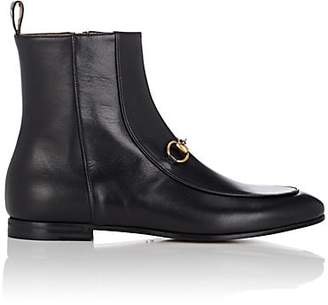 Gucci Women's Bit-Detail Leather Ankle Boots - Black