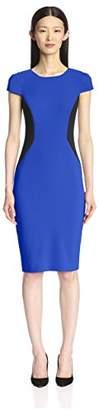 Society New York Women's Colorblocked Cap Sleeve Dress