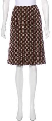 Dries Van Noten Tweed Knee-Length Skirt