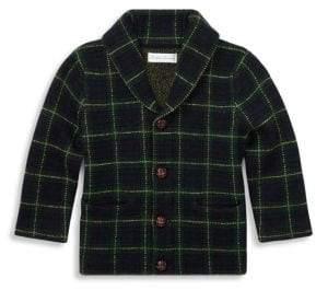 Ralph Lauren Baby Boy's Merino Wool Tartan Cardigan