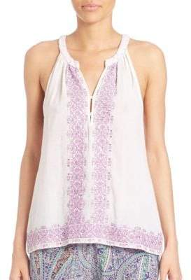 Calypso St. Barth Pari Embroidered Top