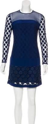 Diane von Furstenberg Enny Crocheted Mini Dress