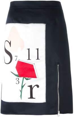 Au Jour Le Jour front print skirt