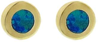 Jennifer Meyer Opal Inlay Circle Stud Earrings