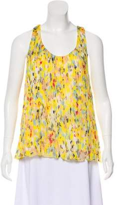 Adam Silk Printed Sleeveless Top