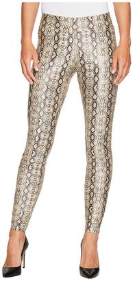 Hue Python Leatherette Leggings Women's Casual Pants