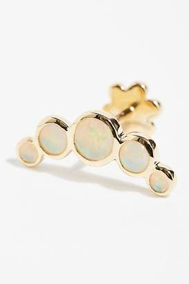 Maria Tash Five Opal Garland Threaded Stud Single Earring