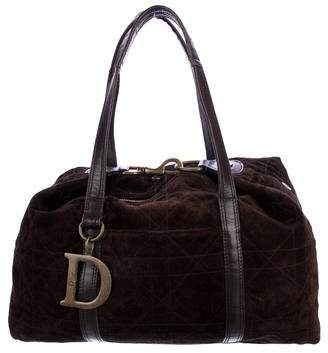 Christian Dior Cannage Suede Tote