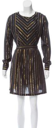 Maison Scotch Metallic-Accented Knee-Length Dress w/ Tags
