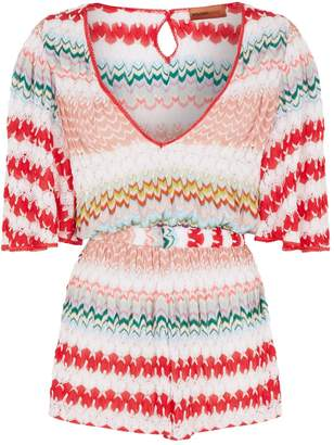 Missoni Mare Patchwork Knit Playsuit