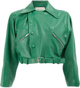 Gucci cropped biker jacket