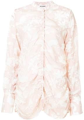 Jil Sander ruched floral blouse