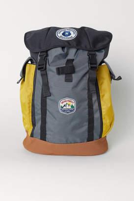 H&M Color-block Backpack - Black