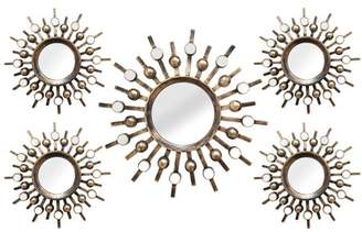 Stratton Home Décor Stratton Home Burst Wall Mirrors - Set of 5